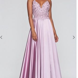 2019 Faviana 10253 Mauve prom dress with pockets